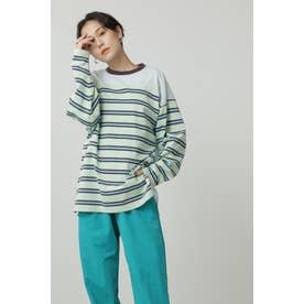 コンビネーションロングTシャツ ライトグリーン