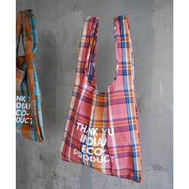 LP Indian check EcoBag (ピンク系(65))