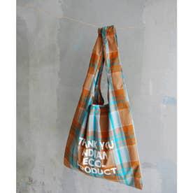 LP Indian check EcoBag (オレンジ系(71))