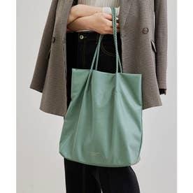【WEB限定カラー:シルバー】【A4対応】洗えるメッシュハンドルトートバッグ (グリーン系(35))