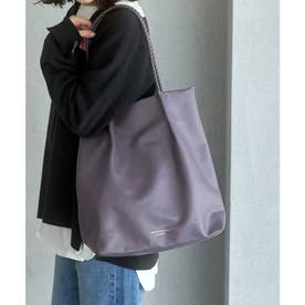 【WEB限定カラー:シルバー】【A4対応】洗えるメッシュハンドルトートバッグ (パープル系(54))