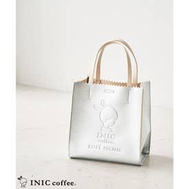 【INIC Coffee×ROPE' PICNIC】メタリックエンボスミドルトート (シルバー(93))