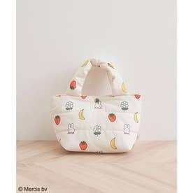 【miffy×ROPE' PICNIC】フルーツフラワープリントキルティングトートバッグS (キナリ(16))