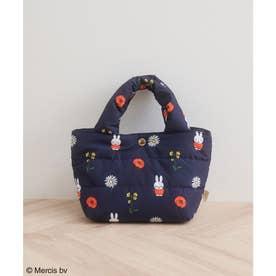 【miffy×ROPE' PICNIC】フルーツフラワープリントキルティングトートバッグS (ネイビー(40))