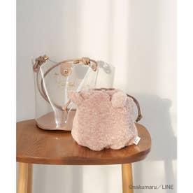 【うさまる×ROPE' PICNIC】エコファー巾着&クリアショルダーバッグ (ピンク(63))