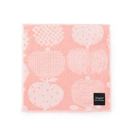 【kippis】 リンゴ柄ミニタオル (ピンク系(65))