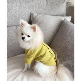 【DOG】【リンクコーデ】カットテレコカーディガン【返品不可商品】 (イエロー(80))
