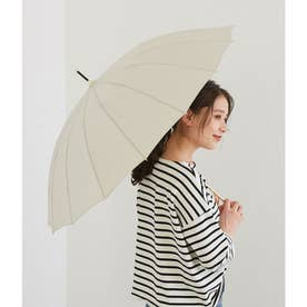 【晴雨兼用】【Wpc.】16本骨ソリッドアンブレラ (ベージュ(27))