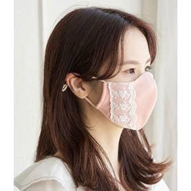 【Beauty Mask】サイドレースカラーマスク 【返品不可商品】(ローズピンク(64))