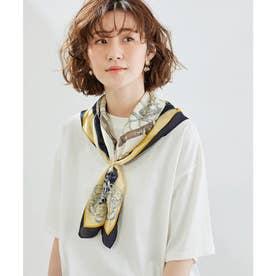 スカーフリング付きシップ柄スカーフ (ネイビー(40))