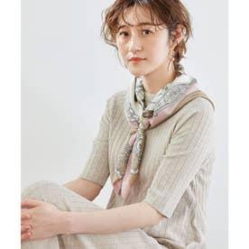 スカーフリング付きシップ柄スカーフ (ピンク(63))