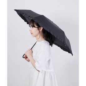 【晴雨兼用】【Wpc.】遮光クラシックフリルミニアンブレラ (ブラック系(02))