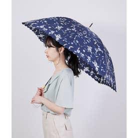 【晴雨兼用】【Wpc.】ラインレースフラワーアンブレラ (ネイビー(40))