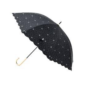 【晴雨兼用】【Wpc.】遮光マーガレットレースアンブレラ (ブラック(01))