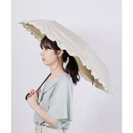【晴雨兼用】【Wpc.】遮光クラシックフリルミニアンブレラ (ベージュ(27))