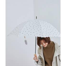 【晴雨兼用】【Wpc.】ミルキードットアンブレラ (ホワイト系(11))