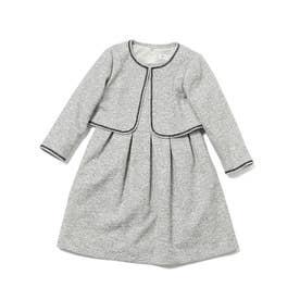 【ROPE' PICNIC KIDS】ファンシーツィードボレロ&ワンピースセットアップ (ホワイト系(11))