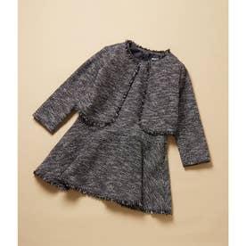 【ROPE' PICNIC KIDS】ツイードジャケット&ジャンパースカートセット (ネイビー系(41))