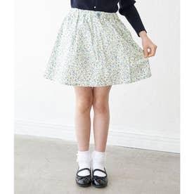 【ROPE' PICNIC KIDS】小花インパンツ付スカート (ブルー(44))