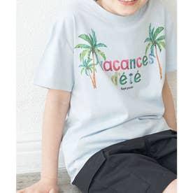 【KIDS】パームツリープリントTシャツ (ブルー(44))