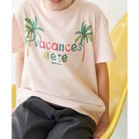 【KIDS】パームツリープリントTシャツ (ピンク(63))