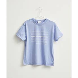 【KIDS】メッセージリピートプリントTシャツ (ラベンダー系(53))