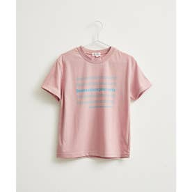 【KIDS】メッセージリピートプリントTシャツ (ピンク(63))