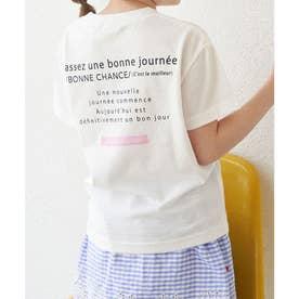 【KIDS】カラーポイントロゴTシャツ (オフホワイト(15))