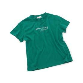 【KIDS】カラーポイントロゴTシャツ (グリーン(30))