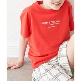 【KIDS】カラーポイントロゴTシャツ (レッド(60))