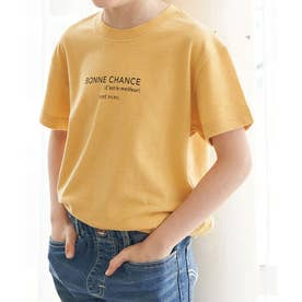 【KIDS】カラーポイントロゴTシャツ (イエロー(80))