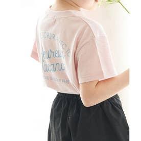 【KIDS】マリン調ロゴTシャツ (ピンク(63))