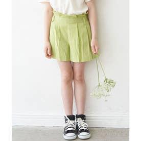 【KIDS】【リンクコーデ】ガーゼ調キュロットパンツ (キミドリ(34))