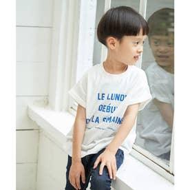 【KIDS】メッセージフレンチスリーブTシャツ (オフホワイト(15))