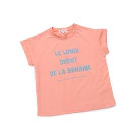 【KIDS】メッセージフレンチスリーブTシャツ (オレンジ(70))