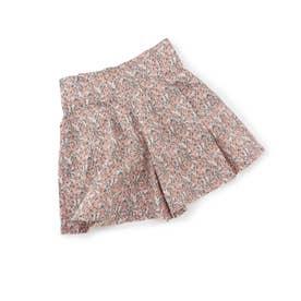 【KIDS】フラワープリントタックキュロットパンツ (ピンク(63))