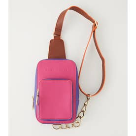 Chain square bag 柄PNK5