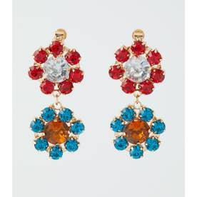 Flower jewelイヤリング 柄RED5