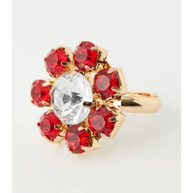 Flower jewel ring 柄RED5