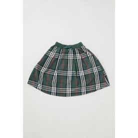 キッズ リブロング スカート 柄GRN5