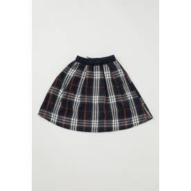 キッズ リブロング スカート 柄NVY5