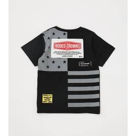 キッズバックUSフラッグTシャツ BLK