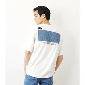 メンズデニムエンボスパッチTシャツ O/WHT1