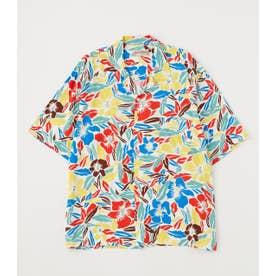 メンズアロハシャツ'21 柄WHT5