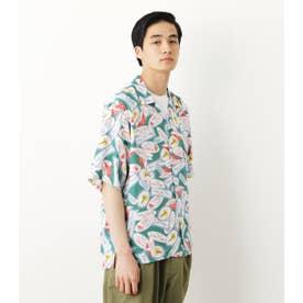 メンズアロハシャツ'21 柄GRN5