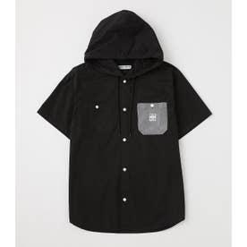 フードワークシャツ BLK