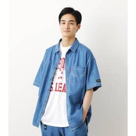 SHELTECH デニムシャツ L/BLU1