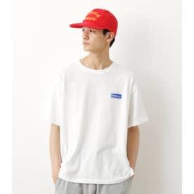 メンズビッグオーバルパッチTシャツ O/WHT1