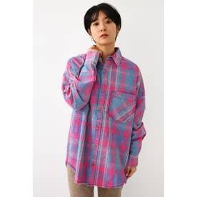 スプリングヴィンテージチェックシャツ (柄ピンク)