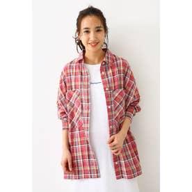 チェックBIGシャツ (柄ピンク)